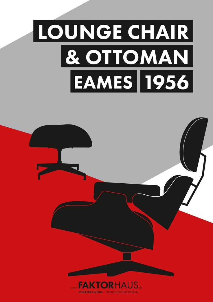 Charles & Ray Eames, Lounge Chair & Ottoman, 1956 #eames #midcentury #1956 #vitra #miller #rayandcharleseames #designclassics #interior #home #furniture #loungechair #lounge #loungechair&ottoman #ottoman #eamesloungechair www.faktorhaus.de
