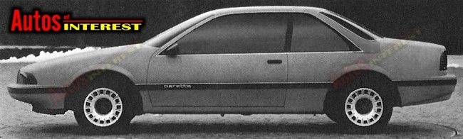 1988 Chevrolet Beretta proposal [early 1983]