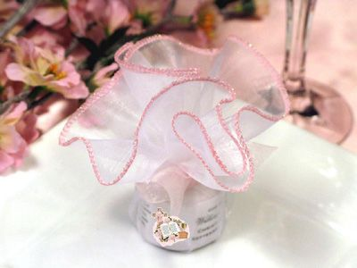 Communion/Confirmation Wavy Tulle Tealights. Party favor idea.