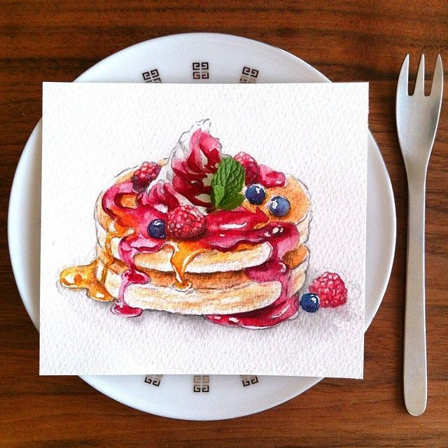 Kyoko_a_art : Raspberry pancakes