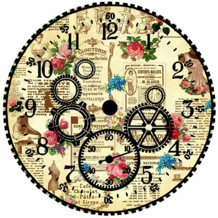 Gears Clock Face
