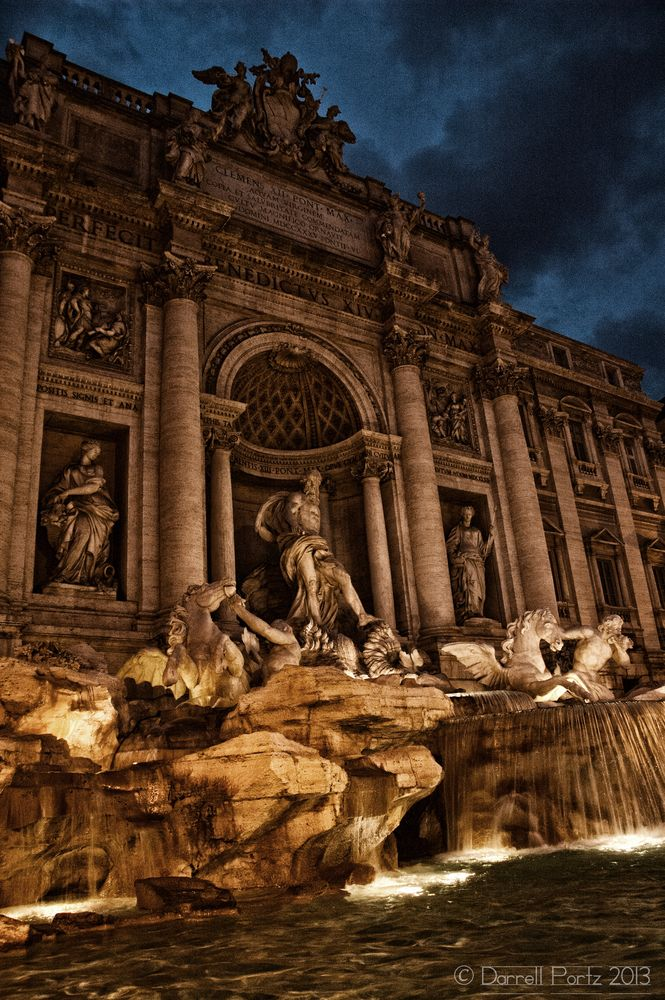 Trevi Fountain in Rome, sent to us by Darrell in Canada