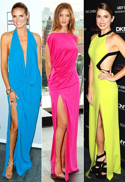 Sexy In Neon! How can you not love?: Neon Dresses I, Neon Dresses Jpg, Bold Neon, Dallas Blog, Wear Neon, Dresses Colors, Neon Colors, Dallas Interiors, Bright Dresses