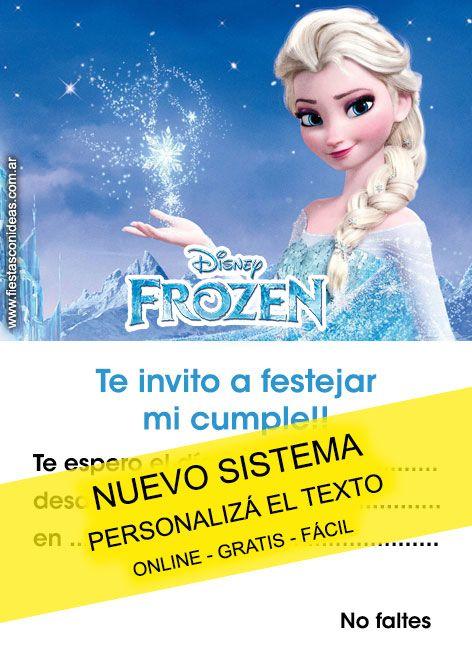 Tarjeta de cumpleaños de Frozen 2 Tarjeta para editar e imprimir gratis f1 como hacer tus
