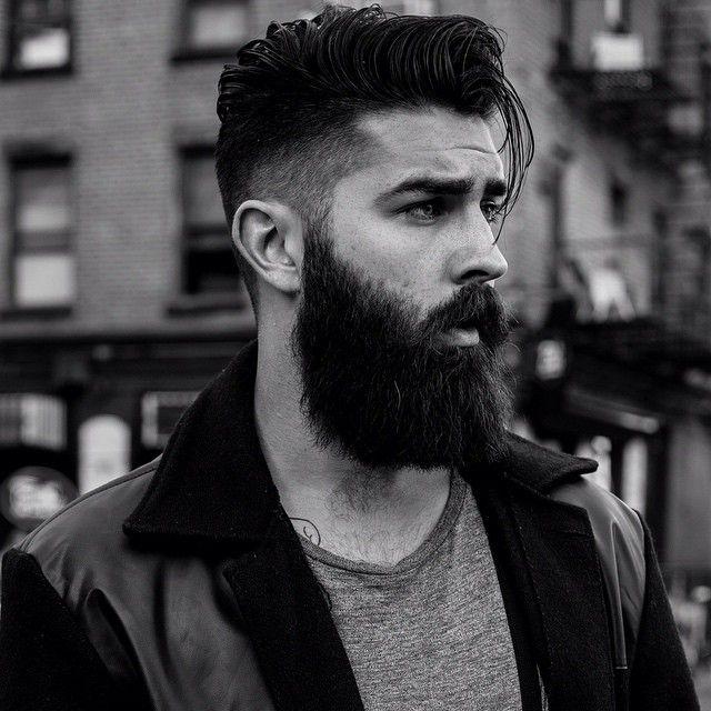 Chris John Millington - full thick dark beard and mustache beards bearded man men mens' hairstyles hair cut barber grooming bearding #beardsforever