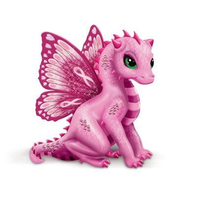Jasmine Becket-Griffith Breast Cancer Hope Dragon Figurines