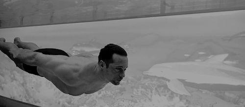 SkarsJoy — skarsgardaddict: Alexander Skarsgård swims through...