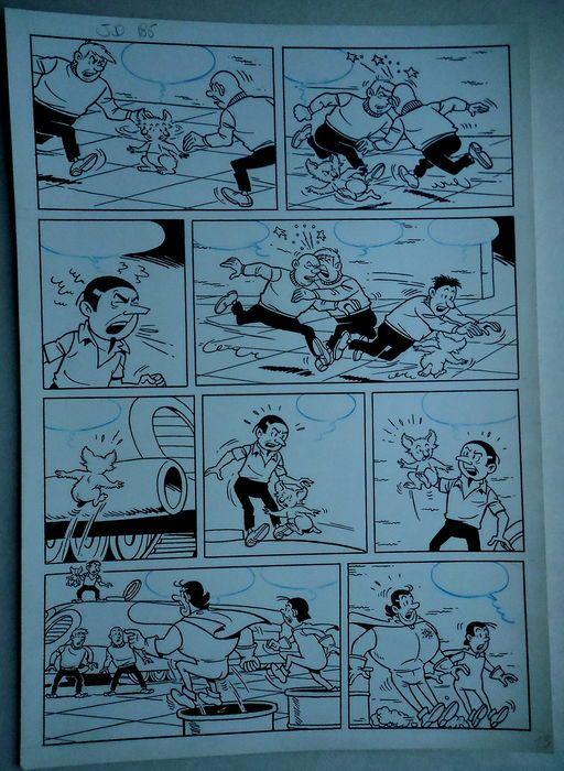 Studio Vandersteen - Originele pagina (p.13) - Jerom - De zwarte vlekken - (begin jaren '70)  Originele pagina van Jeromdoor Studio VandersteenDe zwarte vlekkenGeldt als nummer 185 in de Duitse nummering gehanteerd door de Studio Vandersteen.  EUR 1.00  Meer informatie