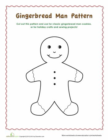 88 best Gingerbread Man images on Pinterest Christmas crafts - gingerbread man template