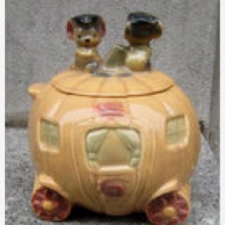 Vintage 1960s Brush CINDERELLA PUMPKIN COACH Cookie Jar