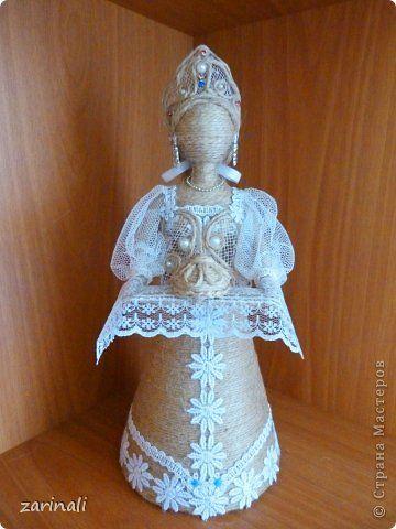 Куклы Моделирование конструирование Хлеб да соль гости дорогие Шпагатаная кукла Шпагат фото 1