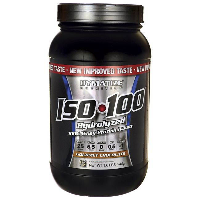 ISO 100 Hydrolyzed Whey Protein Isolate  Gourmet Chocolate, 1.6 lbs Pwdr AED387.00