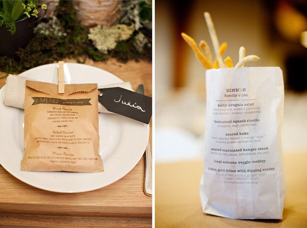 menu kaart inspiratie, ideetjes, diy menu card inspiration, ideas, kraft paper bags