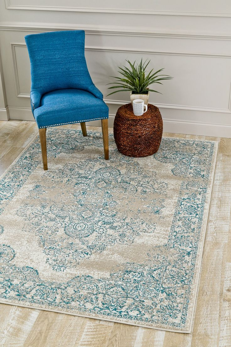 5259 Ivory Medallion Distressed Oriental Area Rugs Clearance