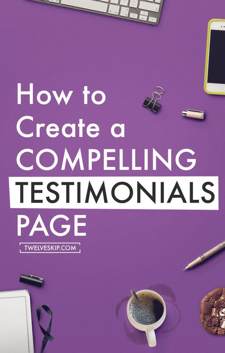 How To Create An Effective Testimonials Page: http://www.twelveskip.com/guide/business/1424/effective-testimonials-page This will help give your potential clients and customers an idea of what it's like to work with you and who is in your audience.
