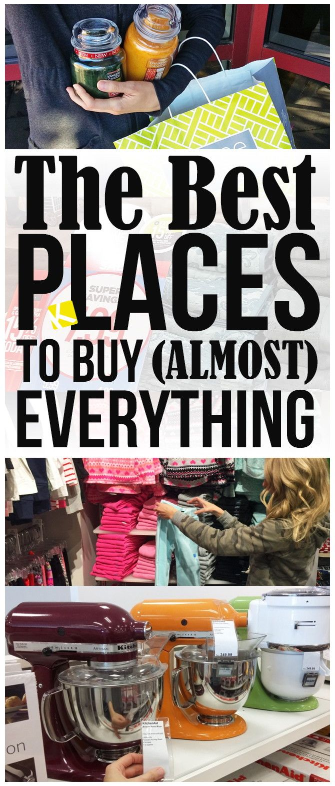 I get rock-bottom prices on almost everything I buy.  My secret? I buy with a coupon during a sale (the same strategy I use couponing). And I buy at little-known places for killer deals.