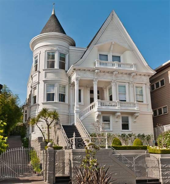 in San Francisco: White Houses, Dolls Houses, San Francisco Mansions, Victorian San Francisco, Bloom Houses, Francisco Victorian, Doll Houses, Victorian Mansions, Victorian Houses