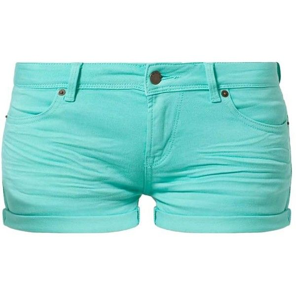 TWINTIP Denim shorts mint ❤ liked on Polyvore featuring shorts