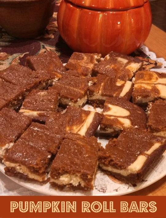 Pumpkin Roll Bars #recipe