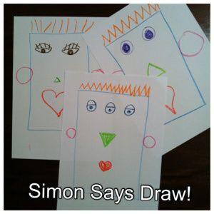 Simon says draw