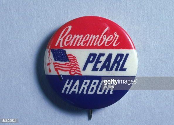 Button w caption Remember Pearl Harbor