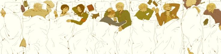 How hetalia cast sleeps