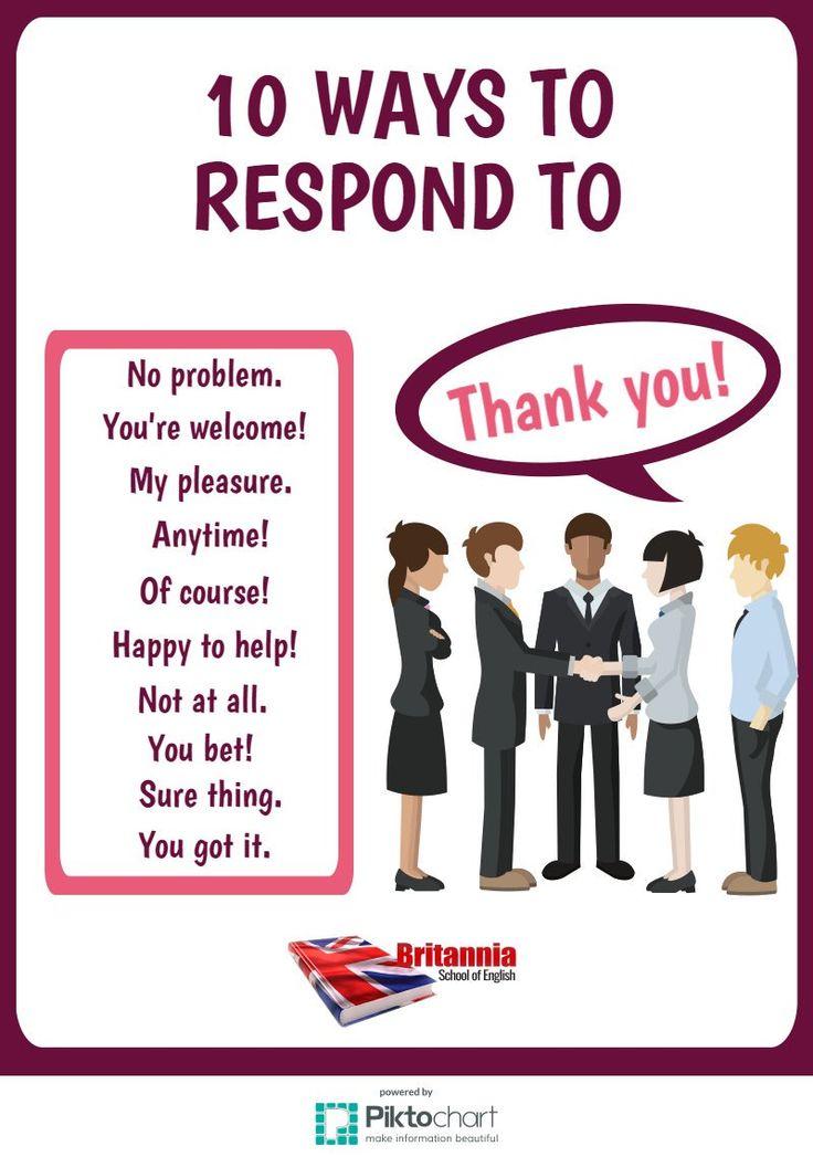 "10 Ways to Respond to ""Thank you!"""