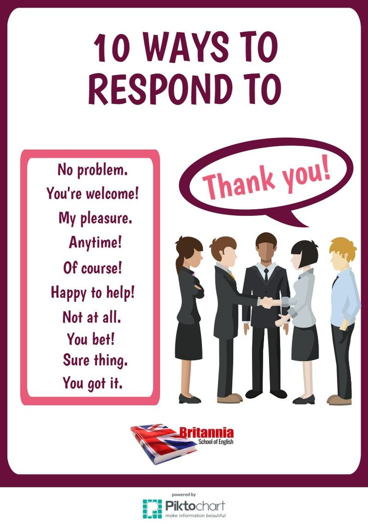 "10 Ways to Respond to ""Thank you!"""