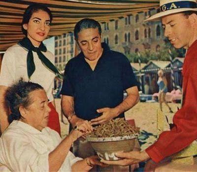 Aristoteles Onassis, Elsa Maxwell, Maria Callas