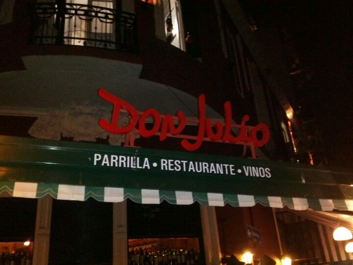 Parrilla Don Julio in Baires, Buenos Aires C.F. (Palermo Soho) Classic Palermo Soho steakhouse Don Julio's entraña (skirt steak) makes dreams come true as does their bife ancho (prime rib) with a goat cheese provoleta (grilled cheese) on the side and a beautiful bottle Lagarde's Henry Gran Guarda No 1 a blend.