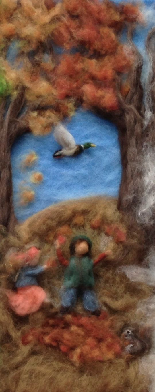 Needle Felted Waldorf Photo Print Four Seasons by ClaudiaMarieFelt