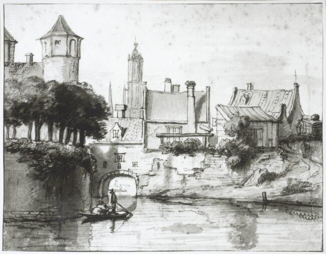 Gerbrand van den Eeckhout, De Oosterpoort te Delft, Kupferstichkabinett, Berlin.