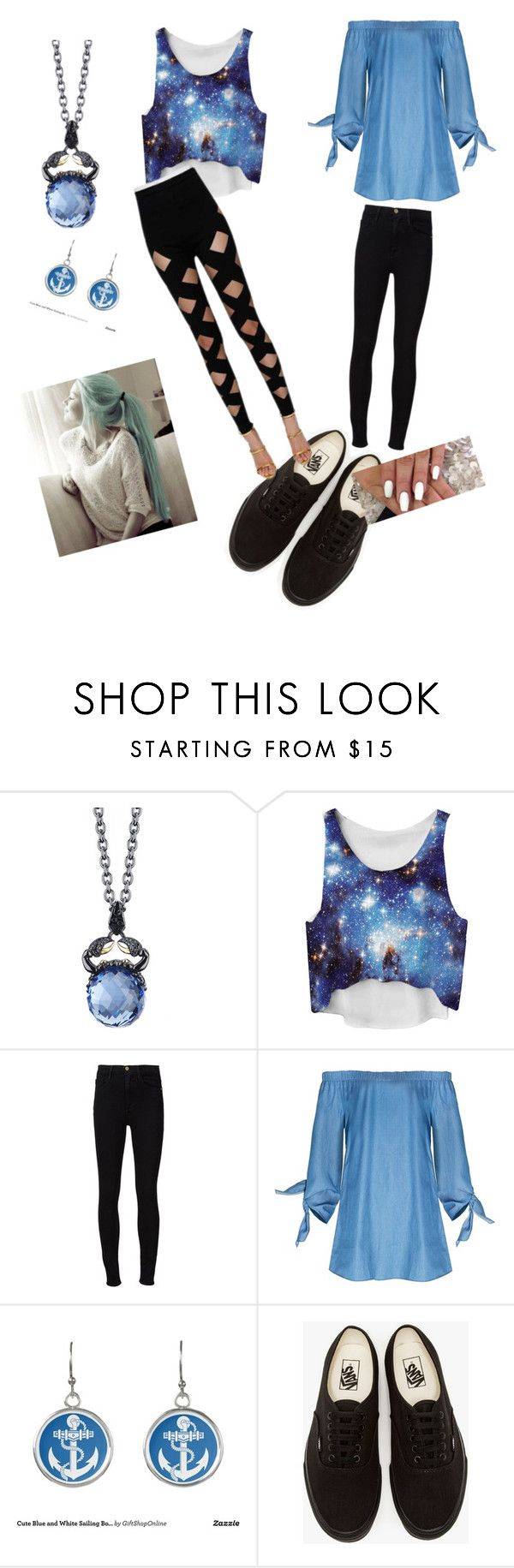"""""""zodiac signs / cancer♋"""" by lilabean546372 ❤ liked on Polyvore featuring Stephen Webster, Frame Denim, Vans and Balmain"""