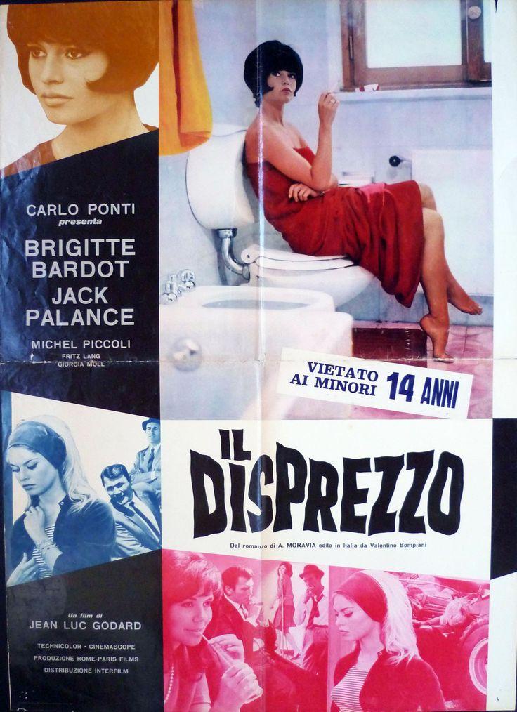 Il disprezzo (Contempt)   Italian movie poster, 1963.