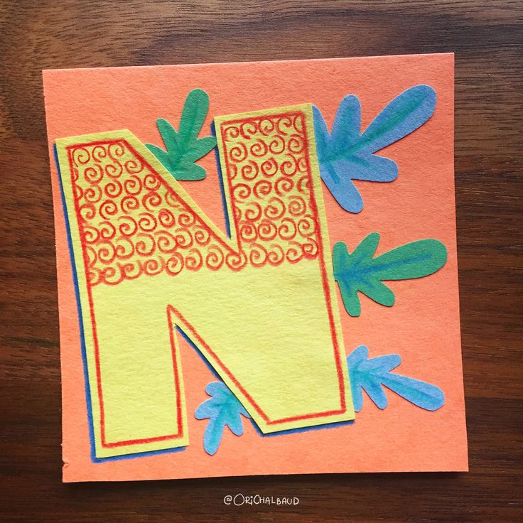 Letter N!. This is part of a paper art type I'm making for 36 days of type and also part of my 100 days project about paper art! :)