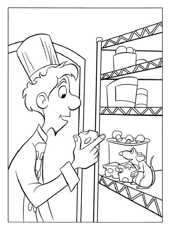 ratatouille coloring pages 41 - Ratatouille Coloring Pages