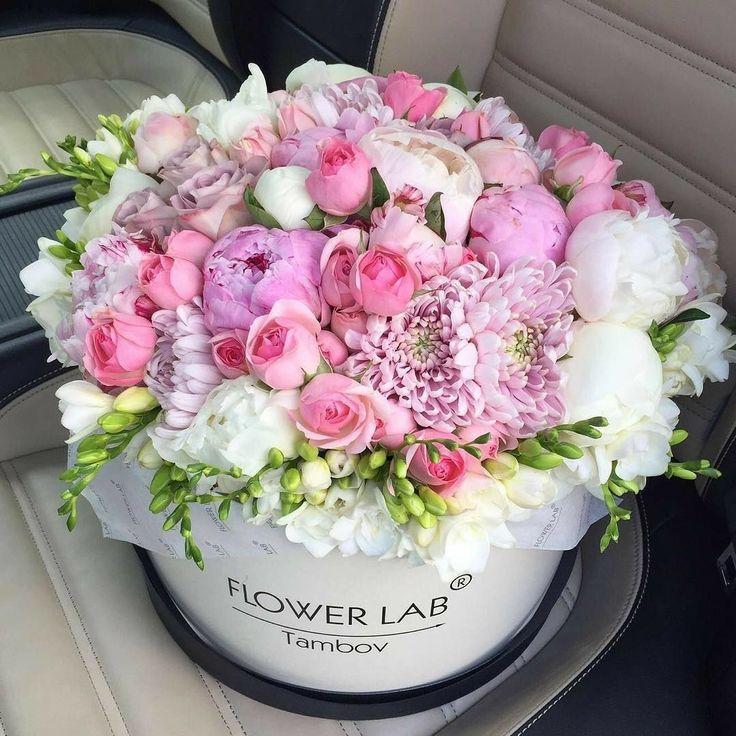 Открытка с пионами и розами на день рождения, картинка