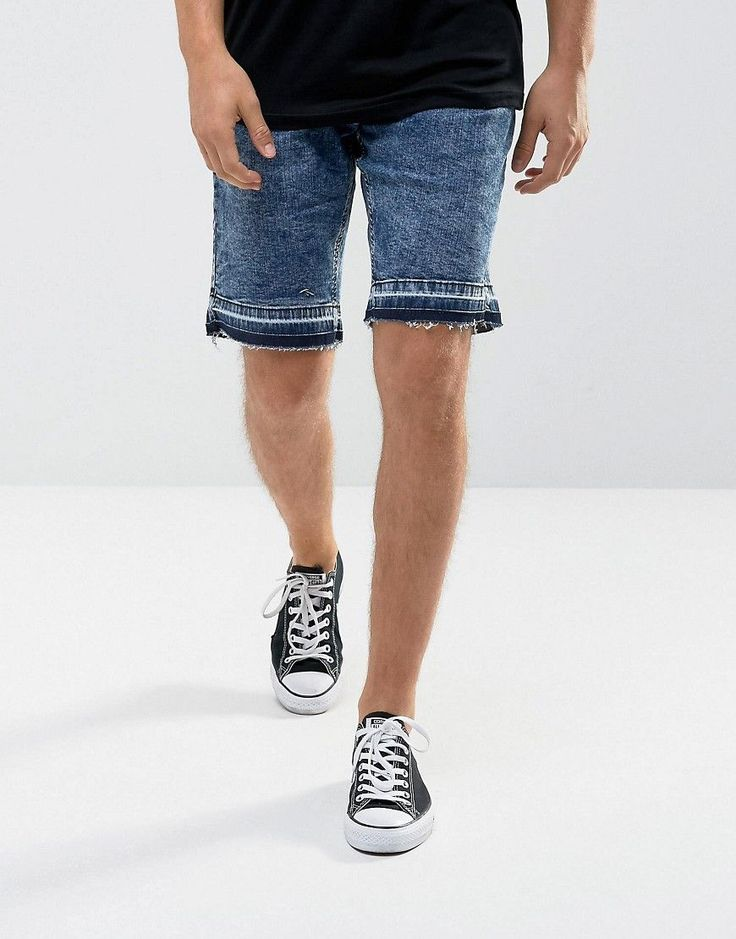 Get this Hoxton Denim's denim shorts now! Click for more details. Worldwide shipping. Hoxton Denim Denim Shorts in Washed Blue - Blue: Shorts by Hoxton Denim, Stretch denim, Acid wash blue, Concealed fly, Functional pockets, Tonal raw-edge cuffs, Slim fit - cut close to the body, Machine wash, 98% Cotton, 2% Elastane, Our model wears a W32 and is 188cm/6'2 tall. (pantalón corto vaquero, damaged, ripped, mom, distress, flex jean, vaquero, jean, jeans, tejano, tejanos, shorts vaqueros…