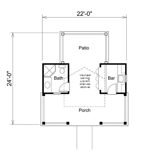 Summerville pool cabana house plans pools and plan plan for Cabana design plans