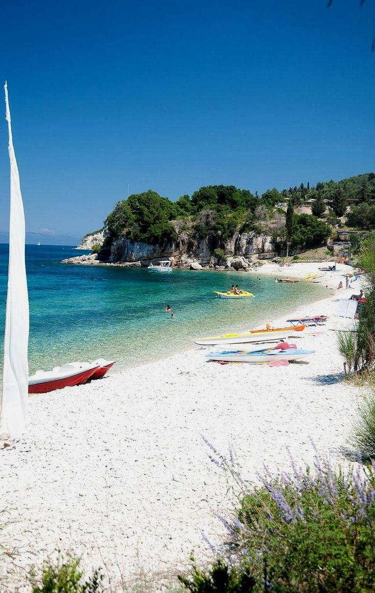 Monodendri beach, Paxos Island, Greece