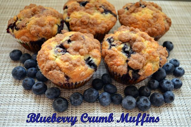 Blueberry Crumb Muffins Via Flavors by Four