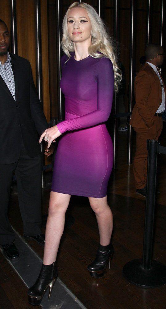 Purple Dress Ombre Dress Bodycon Iggy Azalea Style Fashion Style Pinterest Sexy Sexy