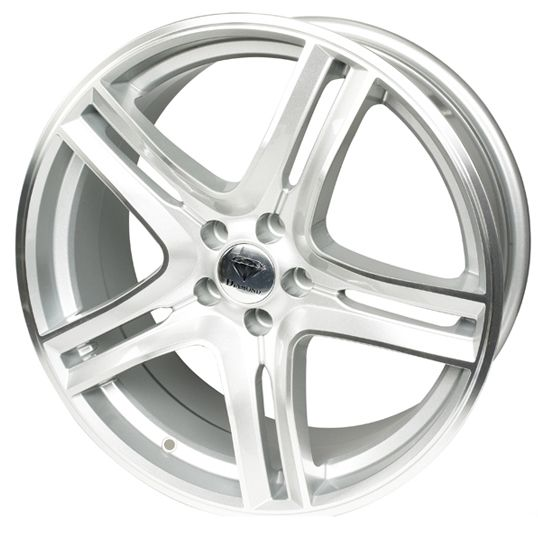DIAMOND EQUINOX SILVER POLISHED alloy wheels with stunning look for 5 studd wheels in SILVER POLISHED finish with 16 inch rim size