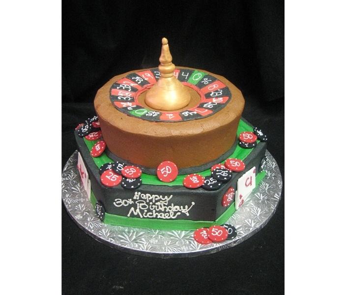 Las Vegas-inspired Groom's Cake And Birthday Cake