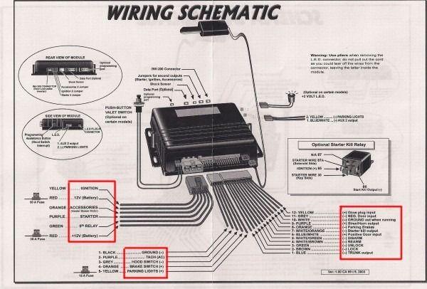 car alarm installation wiring diagram  car alarm viper car