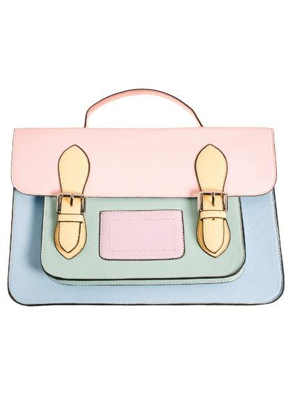 This pastel satchel would give a subtle pop to any outfit! #kawaii