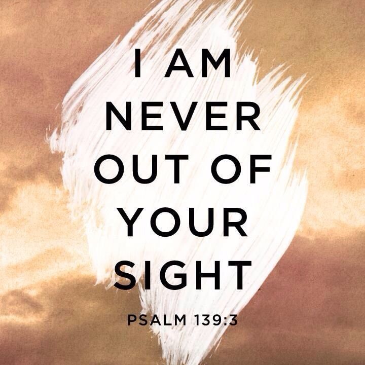 (Psalm 139:3) You discern my going out and my lying down; you are familiar with all my ways.