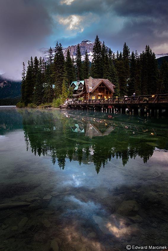 Reflections at Emerald Lake, Yoho NP, Canada