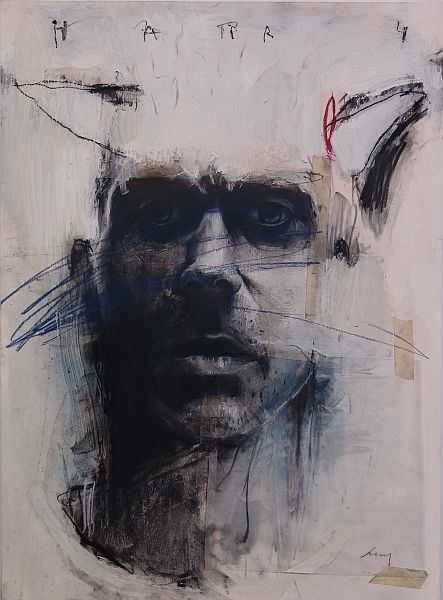 Harry, 2007, Charcoal, pastel, acrylic on paper, 28 x 22 in [pictured above]. Painting is the primal impulse to mark. It's a visual record of the mind, the body, and the human spirit. For me there's an urgency to both create and destroy. Maybe it's out of sheer frustration that I work. Maybe it's just to satisfy a need to violate or to contradict. I'm not sure. There is a strong feeling though and I feel compelled to communicate this feeling.   Nuit #5  Concerning content and meaning in my…