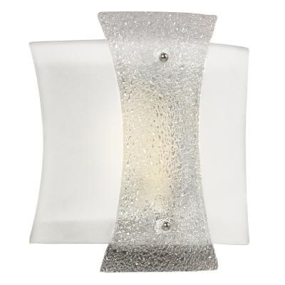 HAMPTON BAY - Wall Sconce With White/Clear Crackle Glass - 001-20211 - Home Depot Canada